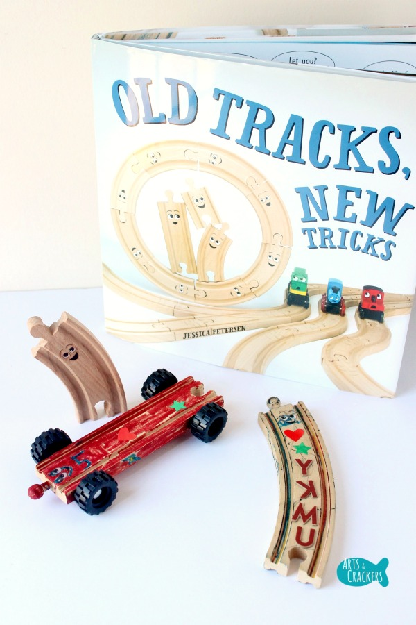 Wooden Train Tracks with Wheels Craft Long