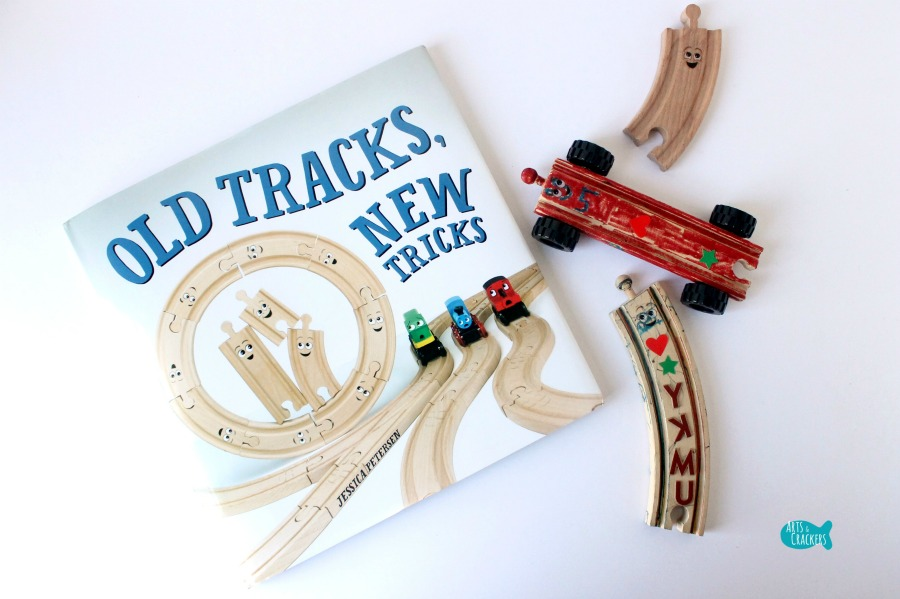 Wooden Train Tracks with Wheels Craft Landscape