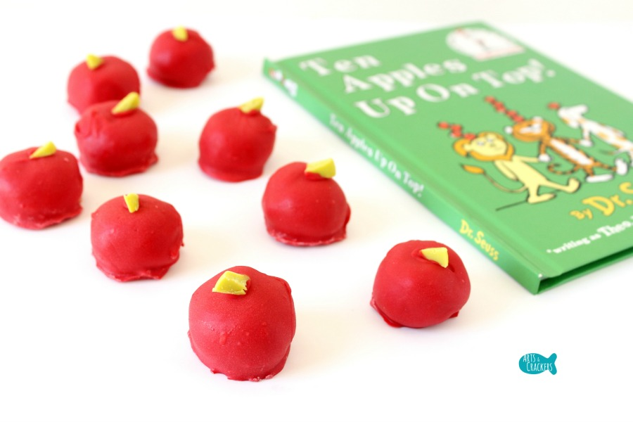 Apple Cake Pops Dr. Seuss Inspired