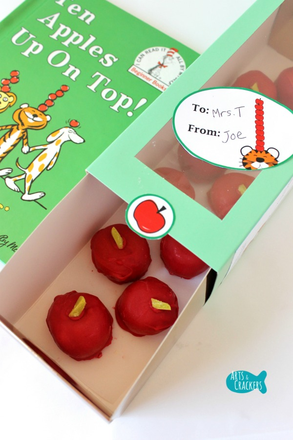 Apple Cake Pops Teacher Gift Idea Long