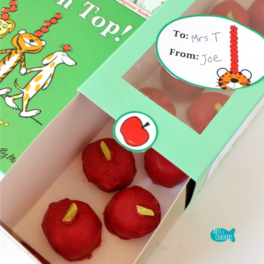 Apple Cake Pops Teacher Gift Idea Square