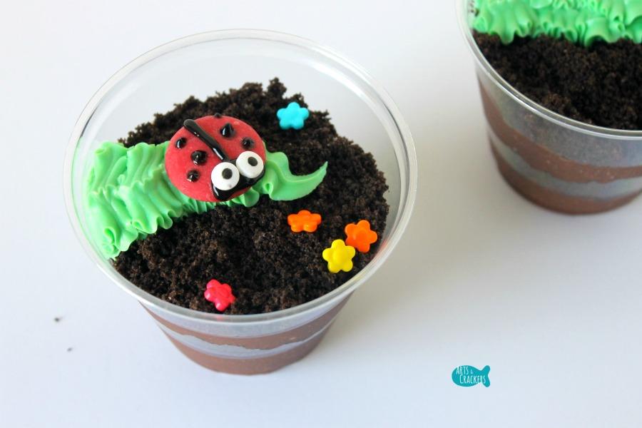 Ladybug Pudding Cup Close
