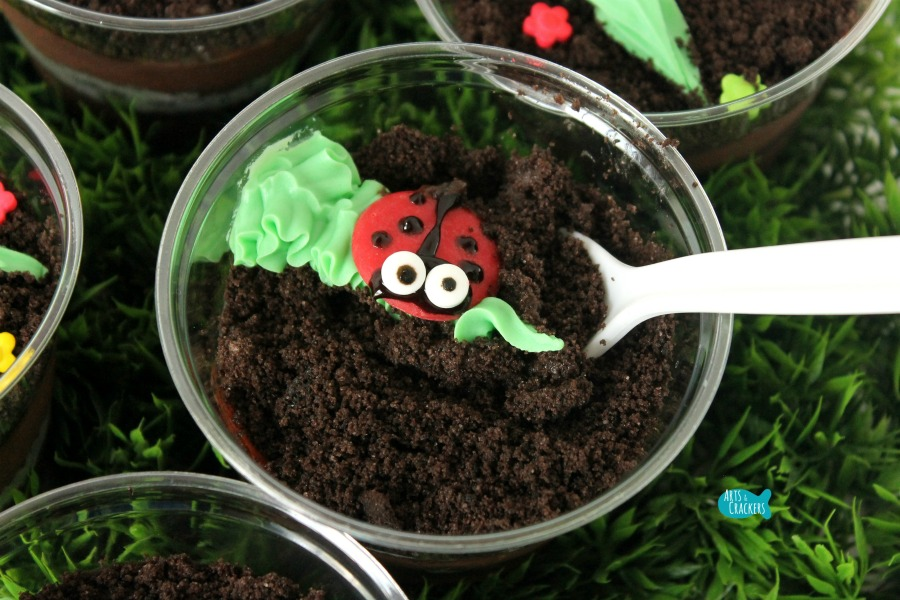 Ladybug Pudding Cup Scoop