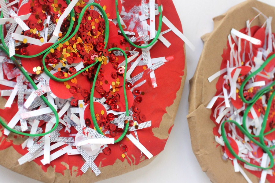 & Kid-Made Paper Plate Pizza Craft | Arts u0026 Crackers