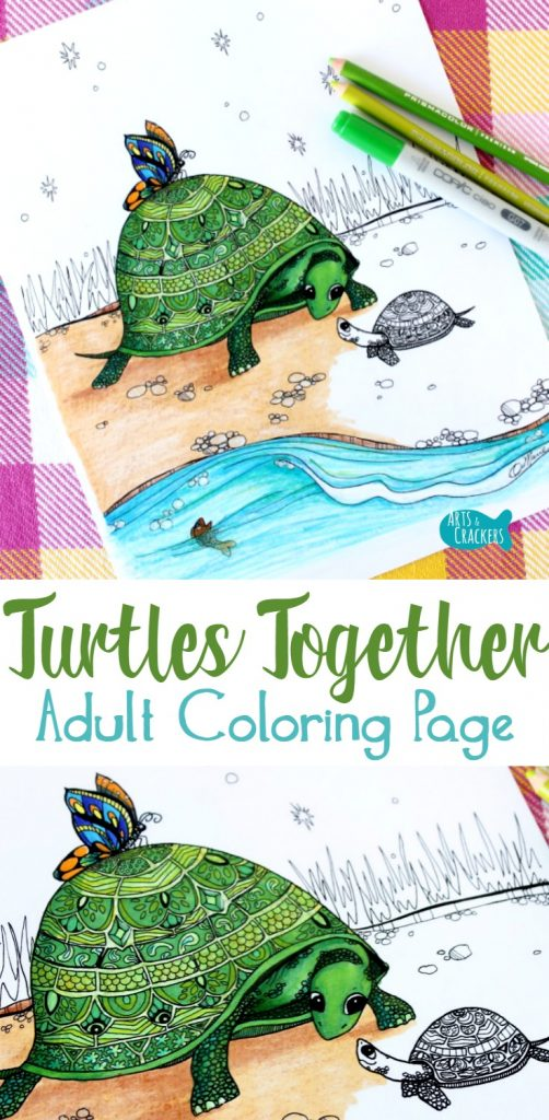mommy turtle coloring pages - photo#37