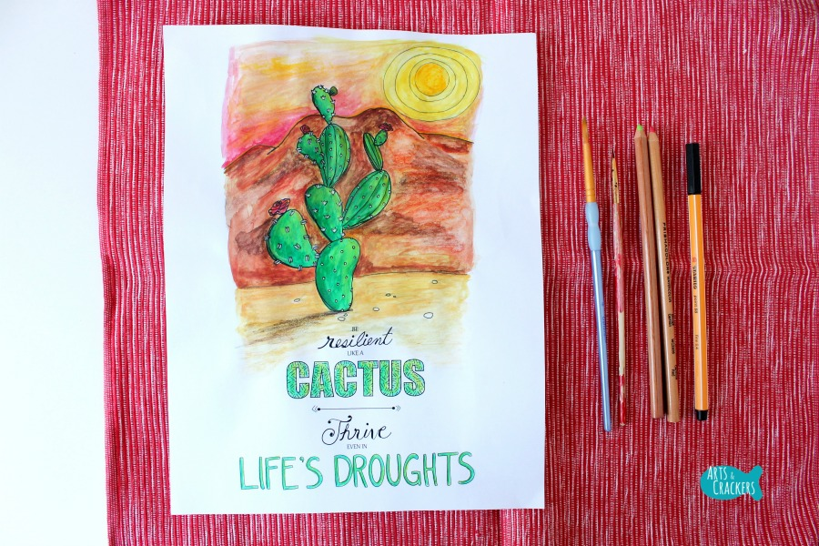 Cactus Quote Coloring Page Cover