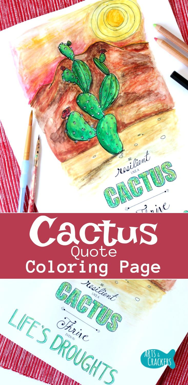 Resilience Quotes Cactusquotecoloringpageforadults