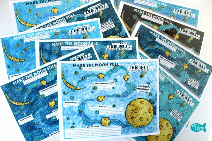 Hungry Moon Snack Printable Placemat for Kids Collection
