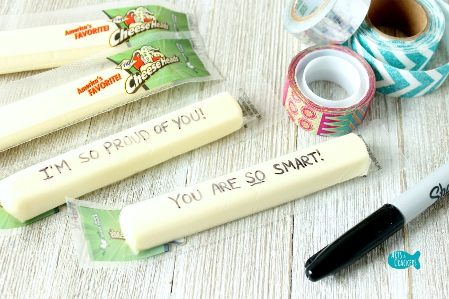 Secret Message String Cheese Wrappers Lunchbox Notes Step 2