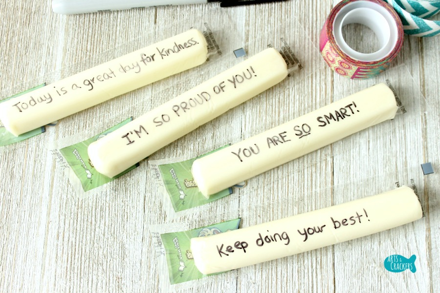 Secret Message String Cheese Wrappers Lunchbox Notes Step 3