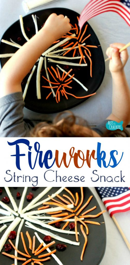 Celebrate this 4th of July with this delicious Fireworks String Cheese snack idea for kids | Fourth of July | Independence Day | Healthy Snacks | Snack Time | Summer