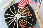 String Cheese Fireworks 4th of July Snack Idea for Kids