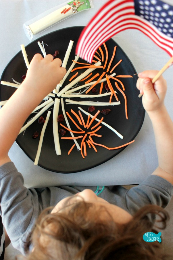 String Cheese Fireworks Snack for Kids Long