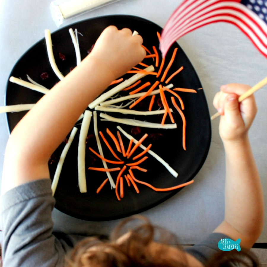 String Cheese Fireworks Snack for Kids Square