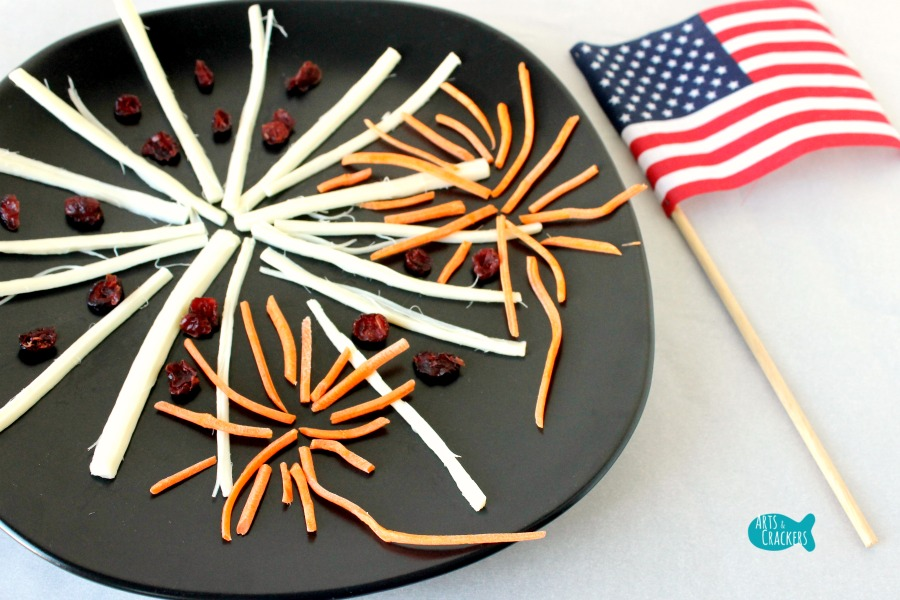 String Cheese Fireworks Snack