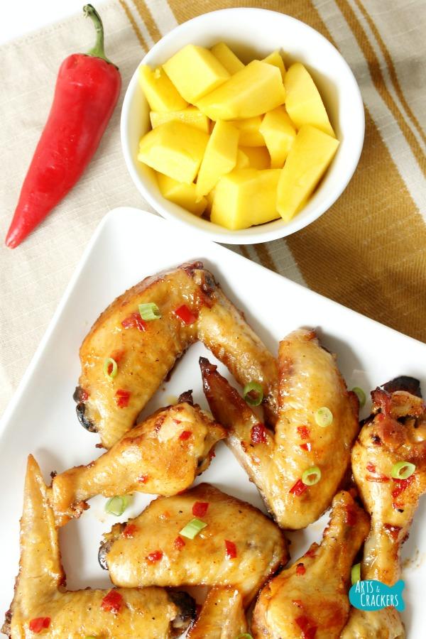 Chili Mango Chicken Wings Long 2