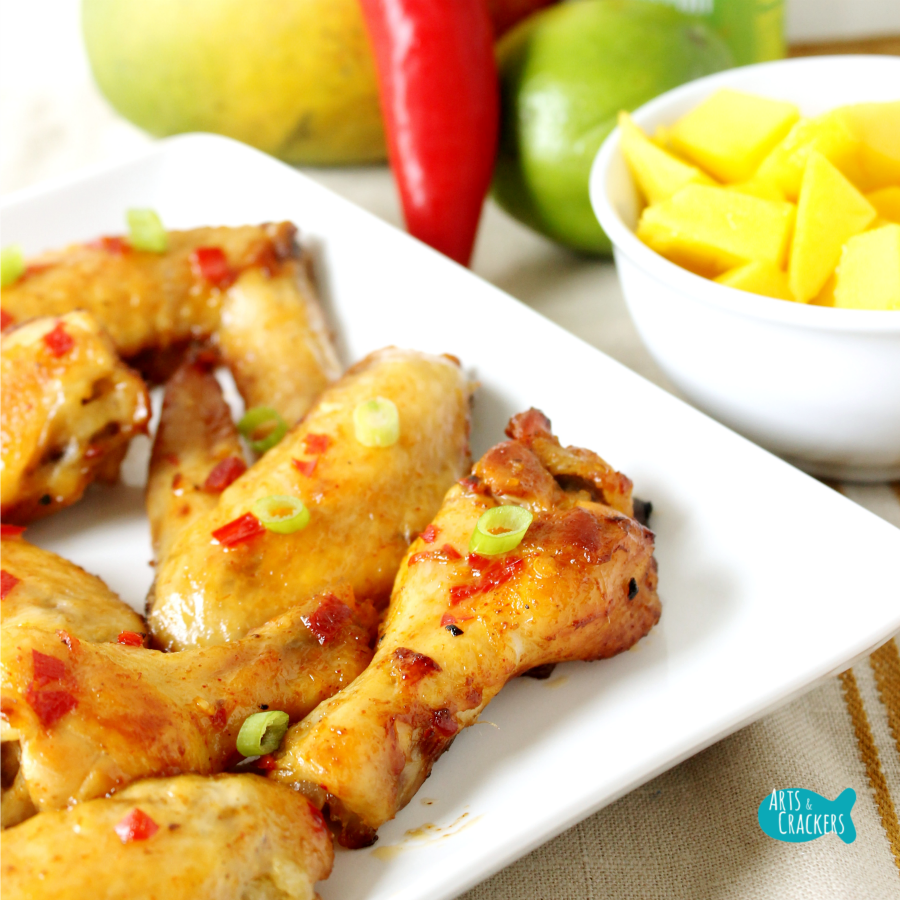 Chili Mango Chicken Wings Square
