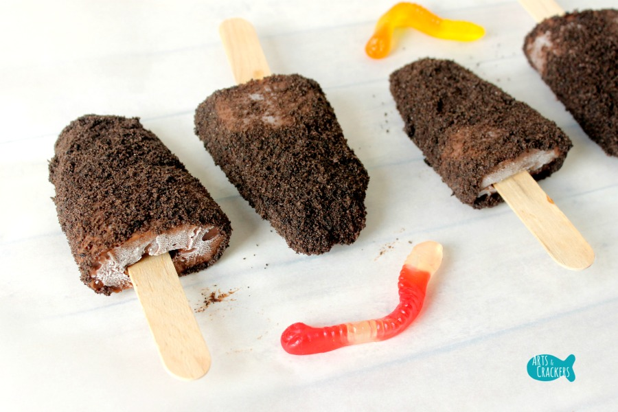 Frozen Dirt Cup Pudding Fudge Pops Angle