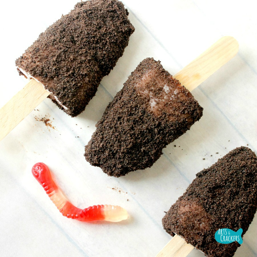 Frozen Dirt Cup Pudding Fudge Pops Square
