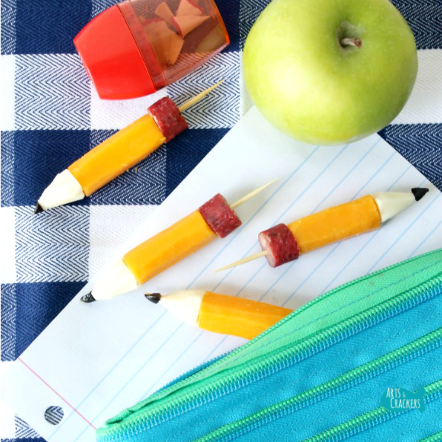 String Cheese Pencil Stubs Pencil Bag Square