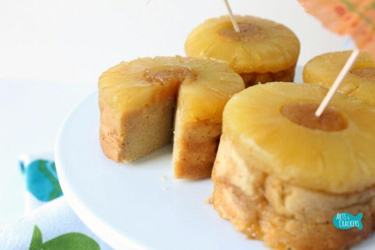 Pina Colada Pineapple Upside Down Torte Cake Gluten Free Sugar Free Middle
