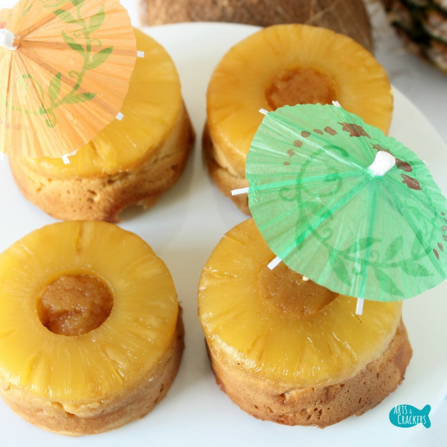 Pina Colada Pineapple Upside Down Torte Cake Gluten Free Sugar Free Square