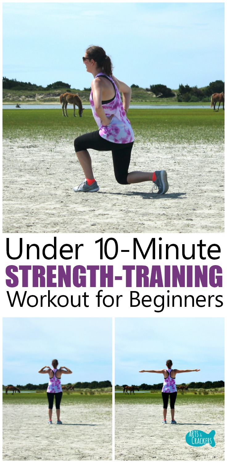 This beginner strength training workout is perfect for those who want a quick and easy exercise routine they can do mostly at home to get in the habit of working out and getting healthy | fitness | healthy living | workout | nutrition | powerlifting | muscles | wellness