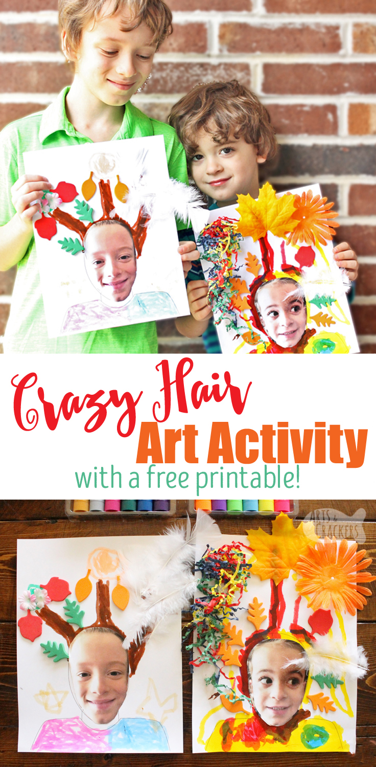 Get whacky with this Crazy Hair Day Art Project, perfect for a classroom activity, Crazy Hair Day, or kid made art activity |