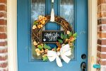 DIY Apple Cider Sippin' Fall Wreath Tutorial for Autumn Decorating