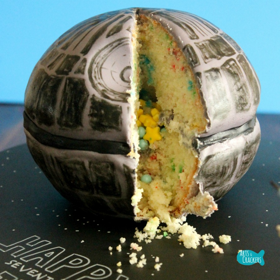 Death Star Cake Square 2
