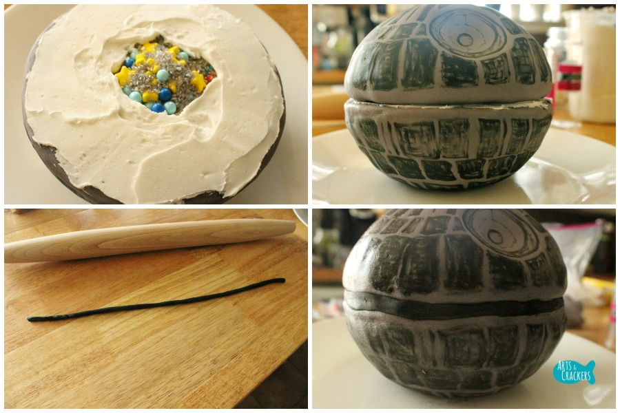 Death Star Cake Step 10