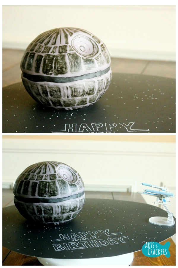 Death Star Cake Step 15