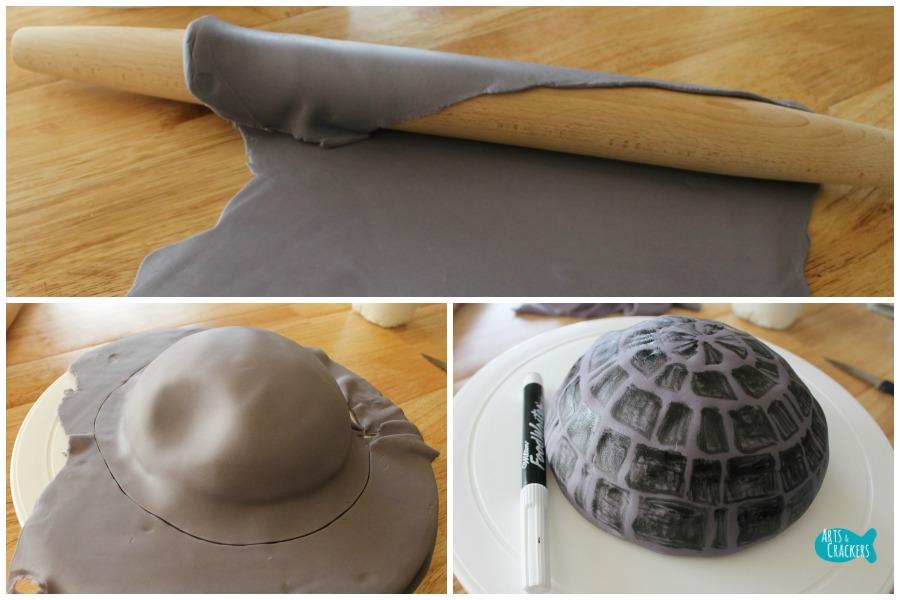 Death Star Cake Step 7