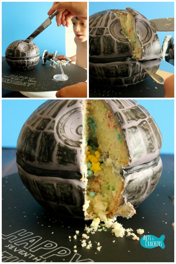 Death Star Cake Surprise Inside Cake