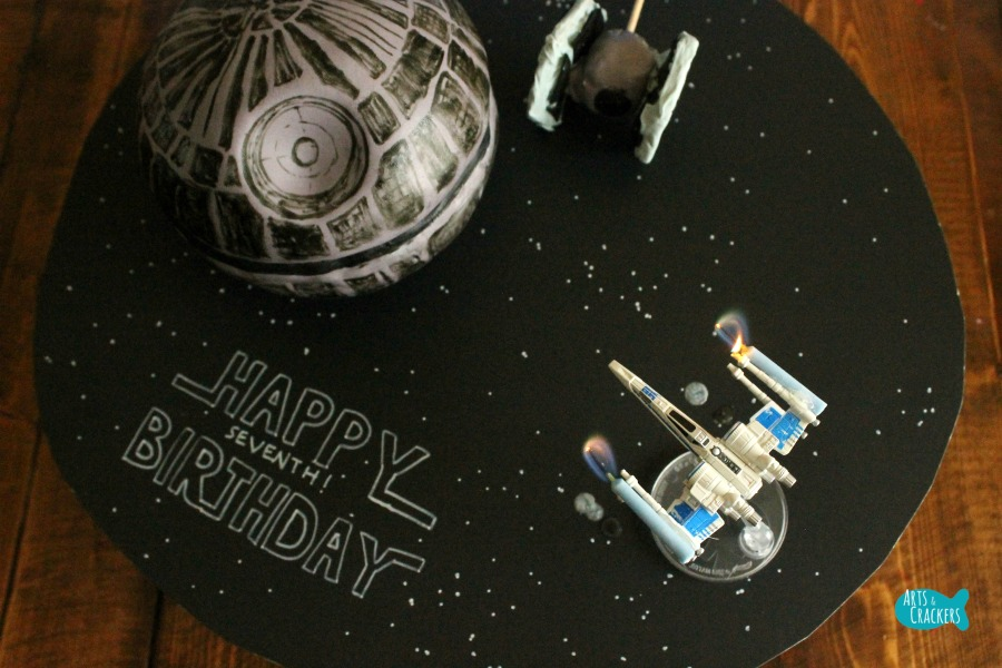 Death Star Cake Top
