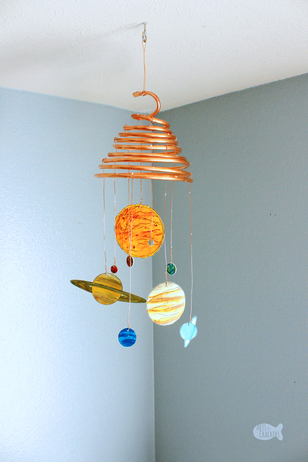 Diy Glow In The Dark Solar System Mobile Shrink Art Template