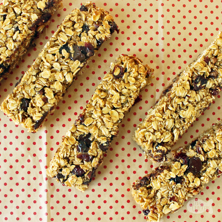 These chewy granola bars homemade are packed with protein and so delicious with peanut butter, chocolate, and other nutritious mix-ins - a healthy snack option or high protein breakfast.