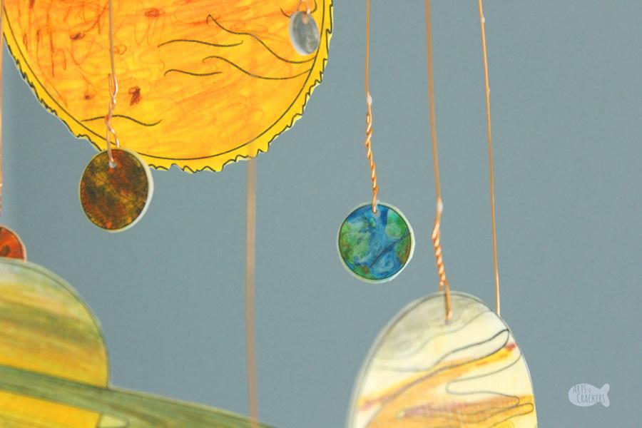 Diy Glow In The Dark Solar System Mobile Shrink Art Template