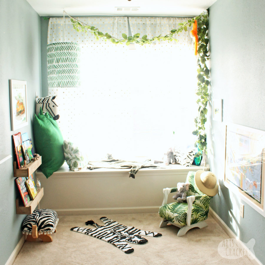 wild about reading jungle book nook makeover
