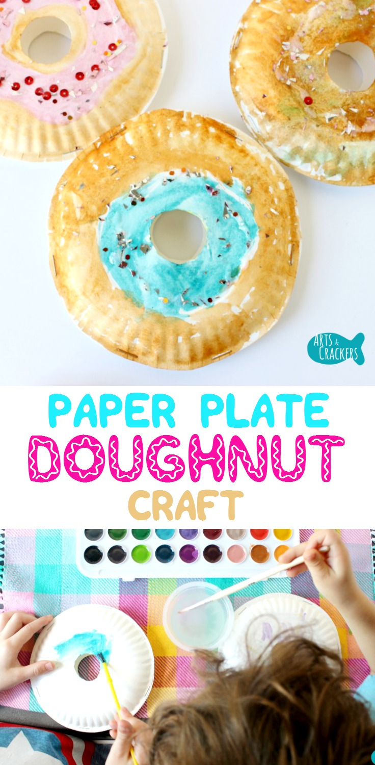 Make the day a little sweeter with this 3D Paper Plate Doughnut Craft for Kids | Teachers | Class Activities | Art Projects for Kids | Kids Crafts | National Doughnut Day | Doughnut Art | Paper Plate Crafts | Doughnut Crafts