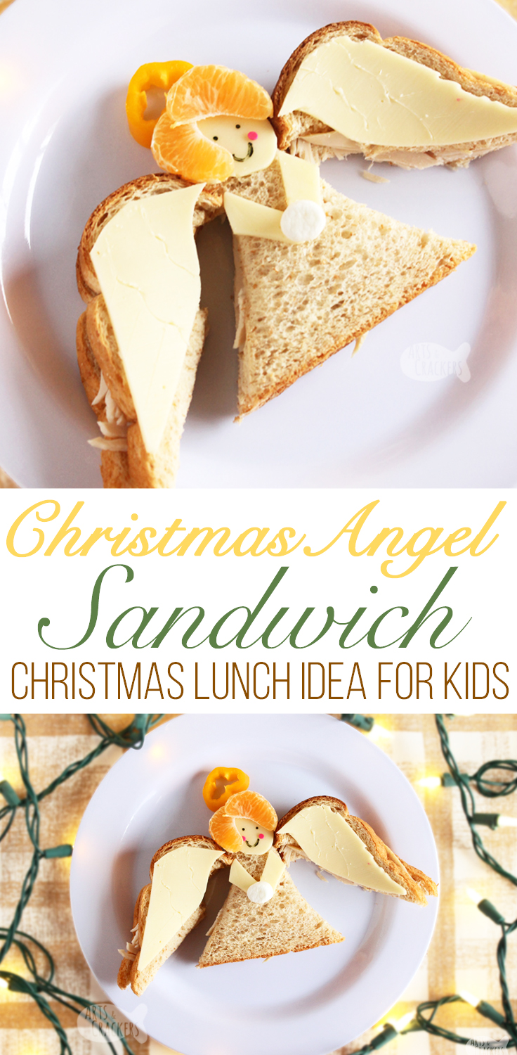 Angel Sandwich Christmas Lunch Idea for Kids