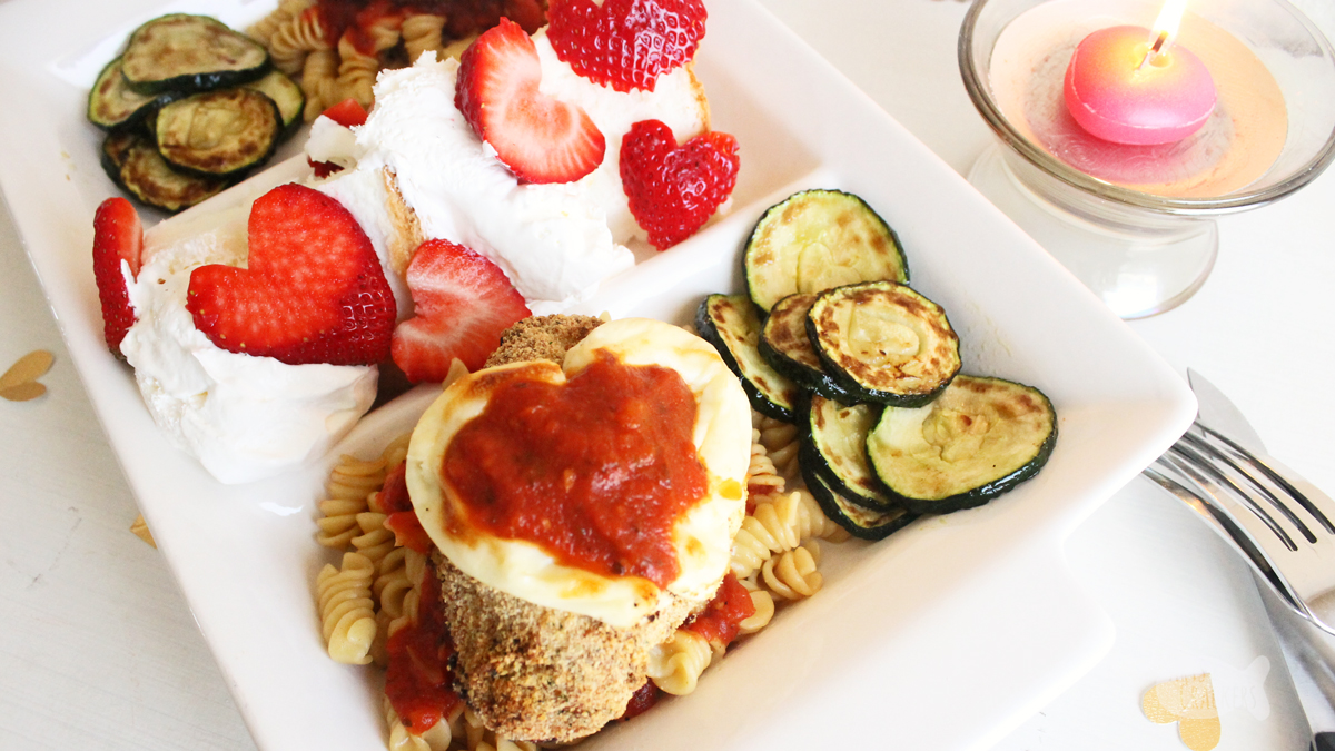 Cute chicken parmesan valentines day dinner idea for two make valentines day special at home with this simple chicken parmesan valentines dinner for two forumfinder Images