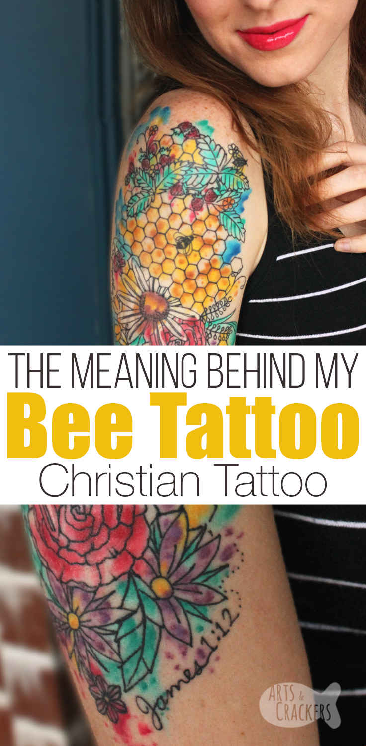 This Christian tattoo has such an incredible story behind it I had to share my bee tattoo meaning | tattoo | Christian Mom | Christian blogger | Honey Bee Tattoo | Encouraging Words | Inspiration | Affirmations | Devotional | Personal Growth