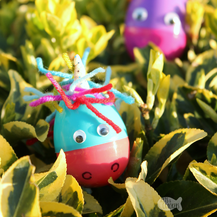 Unicorn lovers will adore these simply magical DIY Plastic Unicorn Easter Eggs filled with playful goodies. They're the most adorable Easter Egg Unicorns for Easter Egg Hunts | Plastic eggs | Unicorns | Mystical Creatures | Magical Creatures | Easter Egg Hunt | Easter for Kids | Lisa Frank | Unique Easter Eggs | #easteregg #unicorn #easterfun