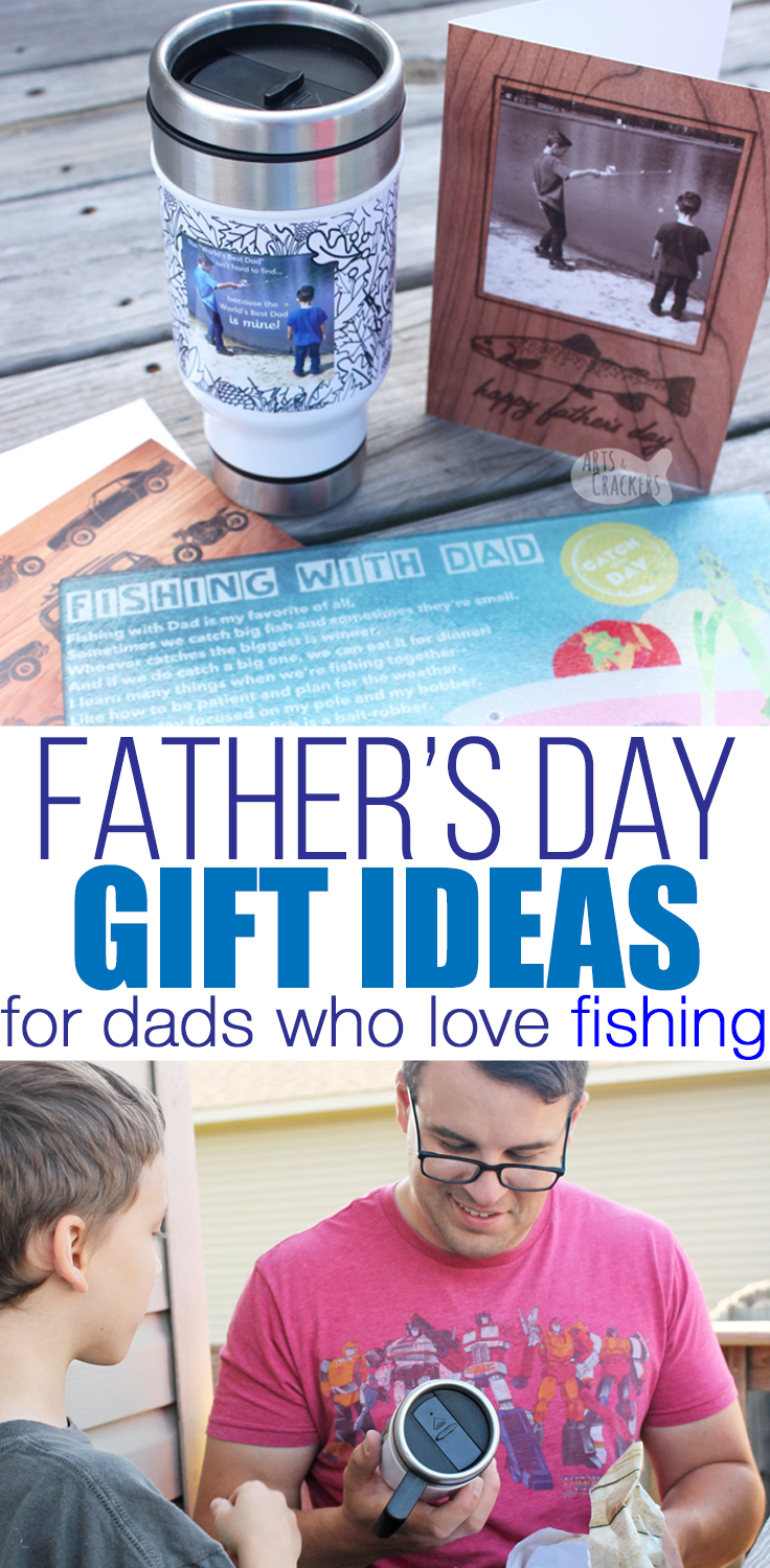 Dad will love these custom Father's Day gift ideas for dads who love fishing | Father's Day gifts | outdoorsmen | fishing | custom gifts for dad | photo gifts | gifts for fishermen | #fathersday #giftsfordad #dadswhofish #fishing