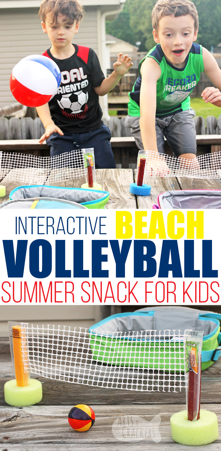 Enjoy summer vacation with this interactive tabletop beach volleyball activity and summer snack | kids activities | snack time | Frigo Cheese | fun food | volleyball snack | volleyball game | tabletop games | summer activities #kidsactivities #volleyball #snacks #summervacation #momblogger