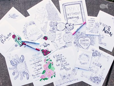 Enjoy bringing to life these beautiful Christian coloring pages and affirmations from Bible verses | adult coloring | coloring book | printable coloring pages | flower coloring pages | Christian coloring pages | Bible verses | Christian faith | stress relief | affirmations | #coloringforadult