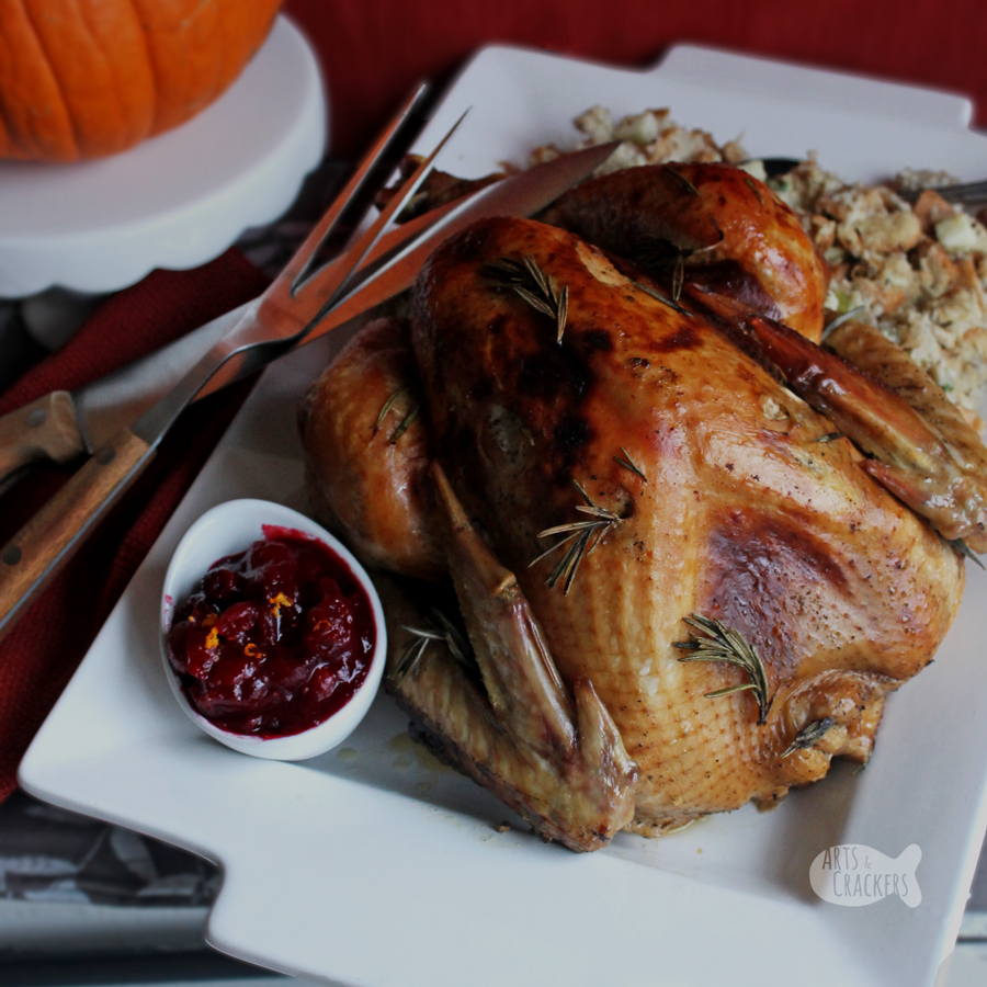Celebrate Thanksgiving with this sweet and savory Rosemary Molasses Apple Cider Turkey Roast, and learn how to get the perfect brown, crispy skin! Perfect Thanksgiving Turkey | roast turkey | gluten-free gravy | gluten-free gravy | baking a turkey | gluten free recipe | recipes with molasses | recipes with apple cider | turkey brine recipe | Thanksgiving turkey | Turkey recipe | Thanksgiving recipe #glutenfree #thanksgiving #recipe