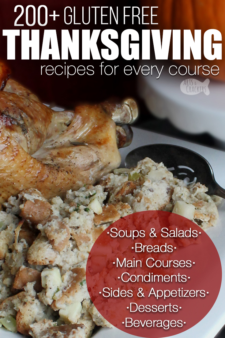 Thanksgiving doesn't have to be boring because of gluten intolerance or celiac disease. Find exactly the right {delicious} recipes for your family with this big list of gluten free Thanksgiving recipes for every course! Gluten-free meals   Gluten free menu   no wheat thanksgiving   gluten free Thanksgiving sides   gluten free rolls   gluten free Thanksgiving desserts   gluten free gravy   Thanksgiving dinner #recipes #glutenfree #thanksgiving