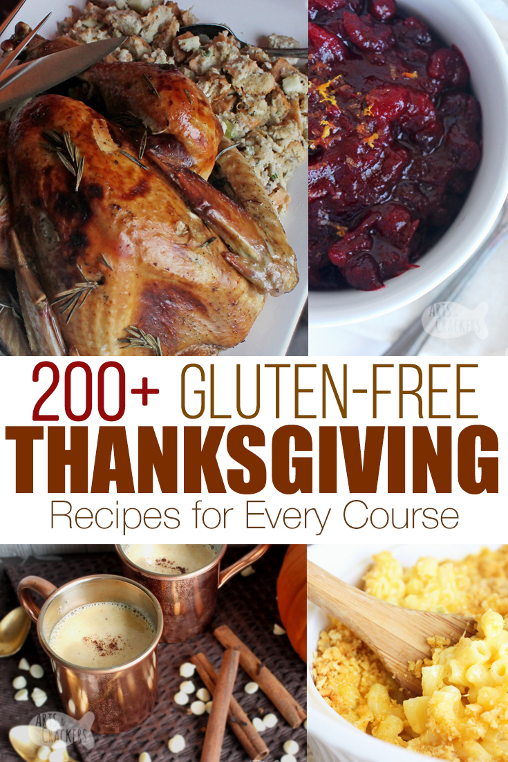 Thanksgiving doesn't have to be boring because of gluten intolerance or celiac disease. Find exactly the right {delicious} recipes for your family with this big list of gluten free Thanksgiving recipes for every course! Gluten-free meals | Gluten free menu | no wheat thanksgiving | gluten free Thanksgiving sides | gluten free rolls | gluten free Thanksgiving desserts | gluten free gravy | Thanksgiving dinner #recipes #glutenfree #thanksgiving